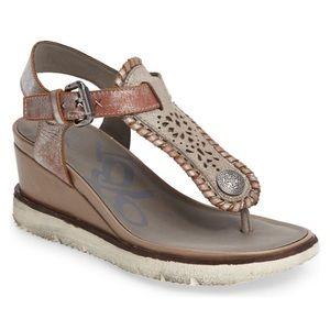 OTBT Excursion Wedge Sandals Leather Upper Sz 7.5
